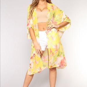 Eden kimono yellow